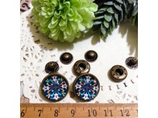 Rw289 Snap Button Marble Blue (633)