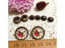 Rw293 Snap Button Vintage Rose's (633)