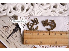Rw72 Antique Zipper Charm *Anchor *(6)