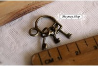 Rw72 Antique Zipper Charm * Key *(7)