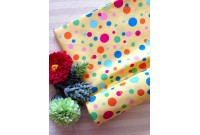 "C2598 Designer Brand Cotton""Yellow Irregular Dot"""