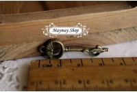 Rw72 Antique Zipper Charm * Key*(10)