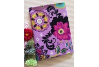 "C2611 Designer Brand Cotton""Purple Base Blossom"""