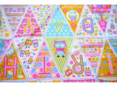 C2622 Sweet Owl Birthday Bunting Panel