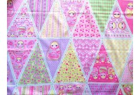 C2623 Sweet Russian Dolls Bunting Panel