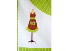 C2630 Reindeer Gifts Adult Apron Panel