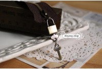 Rw72 Antique Zipper Charm *Lock& Key* (24)