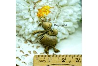 Rw72 Antique Zipper Charm *Sue Diary* (31A)