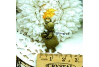 Rw72 Antique Zipper Charm *Sue Diary* (31B)