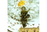 Rw72 Antique Zipper Charm *Sue Diary* (31C)