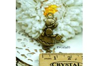 Rw72 Antique Zipper Charm *Sue Diary* (31D)