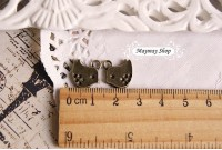 Rw72 Antique Zipper Charm * Birdie* (33)