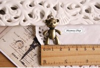 Rw72 Antique Zipper Charm *Biggest Teddy* (35)