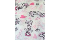 "ZNC2722 Jersey Knit Cotton""Love Minnie"""