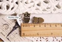 Rw72 Antique Zipper Charm *Owl* (36)