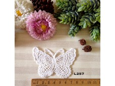 L257 Applique Style Lace Butterfly