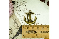 Rw72 Antique Zipper Charm *Anchor* (40)