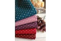 "LC2740 Blended Linen Cotton""5 Colour 3mm Polka Dot"""
