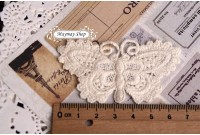 L140 Applique Style Butterfly Lace