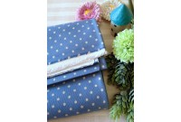 "C2754 Canvas ""Royal Blue 3MM polka Dot"""