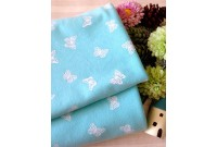 "NC2776 Jersey Knit Cotton""Pastel Blue Butterfly"""