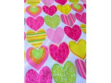 "C2797 Designer Brand Cotton""Huge Heart Shape"""