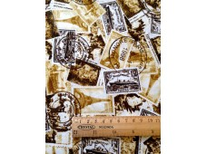 "C2802 Designer Brand Cotton""Vintage Tower Stamp"""