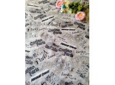 "C2803 Designer Brand Cotton""Vintage French Script"""