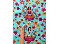 "C2806 Designer Brand Cotton""Zen Yoga Lotus"""