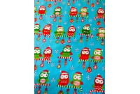 "C2822 Designer Brand Cotton""Christmas Owl"""