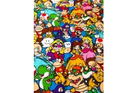 "C2827 Designer Brand Cotton""Mario Packed Character"""