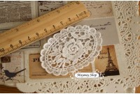 L158 Victorian Applique Style Lace Oval Rose's