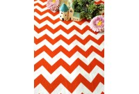 "C2829 Designer Brand Cotton""Chevron Orange"""