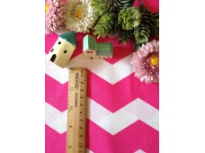 "C2830 Designer Brand Cotton""Chevron Huge Pink"""