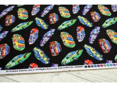 C2252 Designer Brand Cotton *Racing Car*
