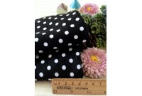 "NC2871 Jersey Knit Cotton""Black Polka Dots"""