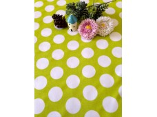 """NC2873 Jersey Knit Cotton""""Huge Lime polka Dots"""""""