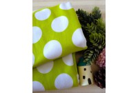 "NC2873 Jersey Knit Cotton""Huge Lime polka Dots"""