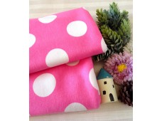 "NC2874 Jersey Knit Cotton""Huge Pink polka Dots"""
