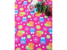 """NC2880 Jersey Knit Cotton""""Frog & Snail In Pink"""""""