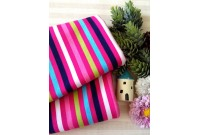 "NC2886 Jersey Knit Cotton""Stripe Line In Sweet Pink"""