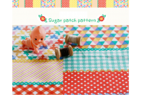 "ZLC2907 Blended Linen Cotton""Sugar Patch Pattern"""