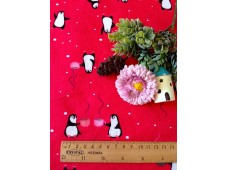 "ZNC2926 Jersey Knit Cotton""Penguin With Coffee"""