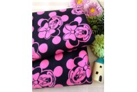 "NC2934 Jersey Knit Cotton""Minnie In Pink Bubble Dot"""