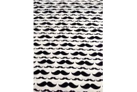 C2952 Designer Brand Cotton *Mustache (Defect)*