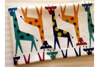 "ZLC2574 Blended Linen Cotton ""Giraffe illust"""
