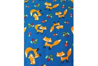 "ZC2998 Designer Brand Cotton ""Foxes On Blue"""