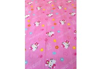 "C3004 Designer Brand Cotton ""Kitty Hearts & Flower Allover"""