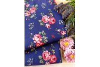 "C3019 Canvas ""Wild Rose On Royal Blue"" (Defect)"
