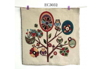 "EC3032 Embroidery stitches Canvas""Owl On Branches"""